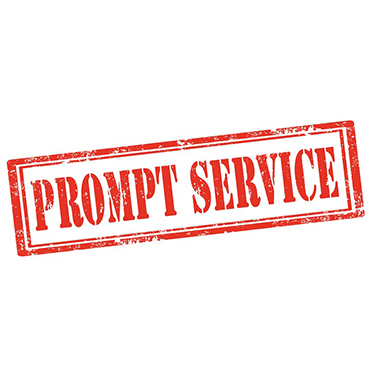 why customer service should be pro9mpt Quality customer service is a vital ingredient in a company's ability to maintain profitability and continued success in business  prompt and courteous.