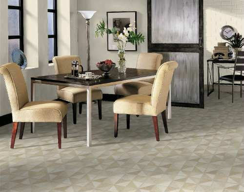 Dining room areas flooring idea trilenium by armstrong for Dining room tile designs