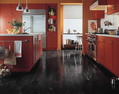 kitchens flooring idea maple black by armstrong