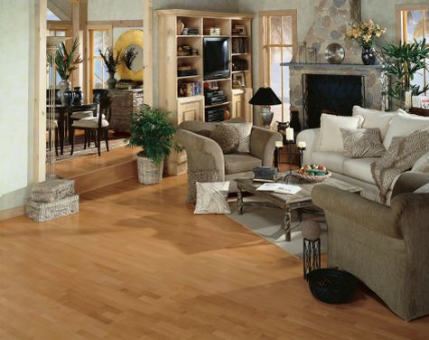 Living Rooms Flooring Idea Maple Caramel By Armstrong