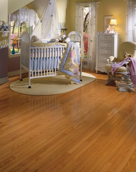 Nursery baby rooms flooring idea oak canyon by for Hardwood floors and babies