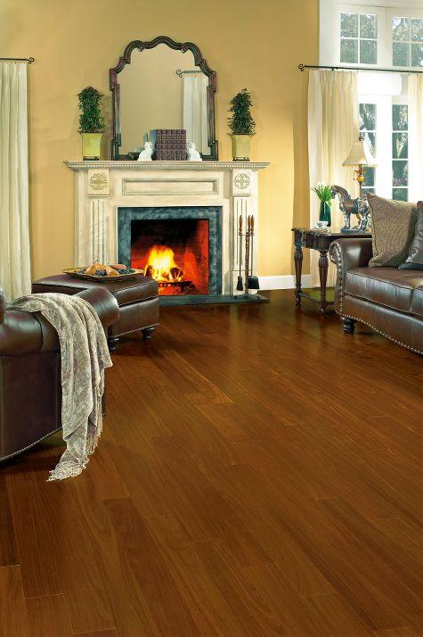 Living rooms flooring idea santos mahogany natural by for Mahogany living room ideas