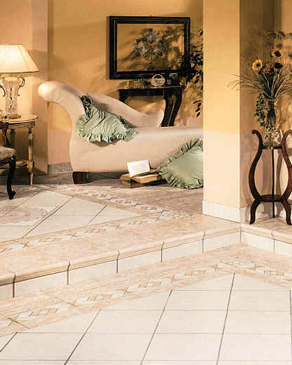Living rooms flooring idea filosofi by florida tile Living room tile designs