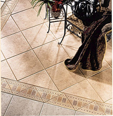 Living Rooms flooring idea  Tileart V Floor Triangles Listellos by Florida Tile