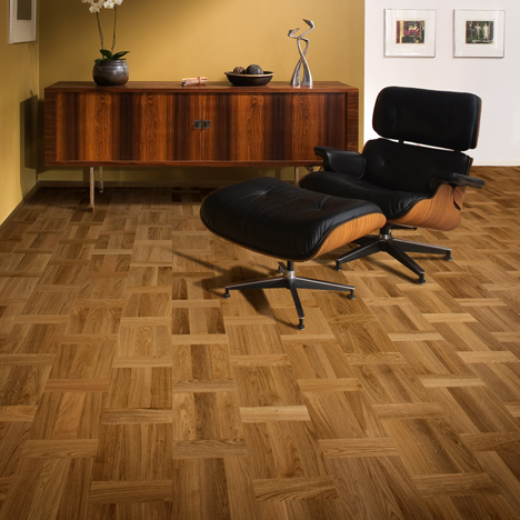 Home Office Study flooring idea Oak Palazzo Rovere by Khrs