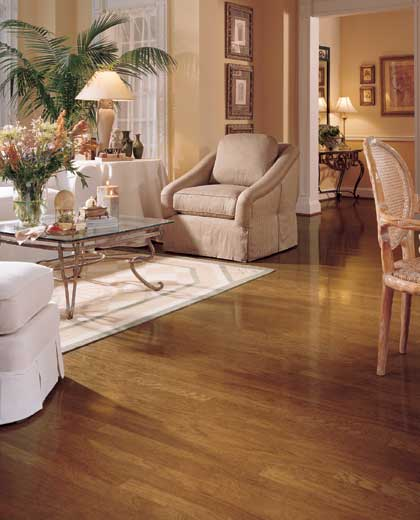 Living rooms flooring idea hatteras oak strip by mannington hardwood flooring Room floor design