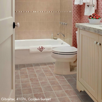 Kids Bathrooms Flooring Idea Aurora Gibraltar By Mannington Vinyl