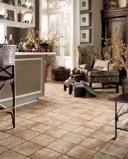 Living Rooms designs courtesy of Mannington Vinyl Flooring  All rights reserved flooring idea Naturals Indian Slate by