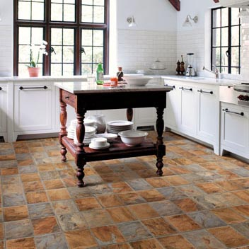 Kitchens Flooring Idea : Realistique, Highland Slate By Mannington Vinyl  Flooring