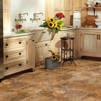 Kitchens flooring idea realistique lava stone by for Vinyl floor ideas for kitchen