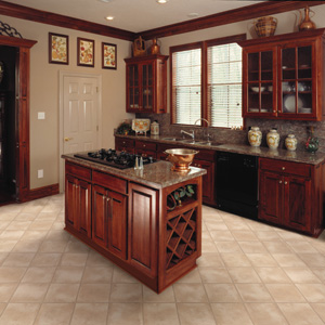 Kitchens flooring ideas room design and decorating options for Laminate flooring choices
