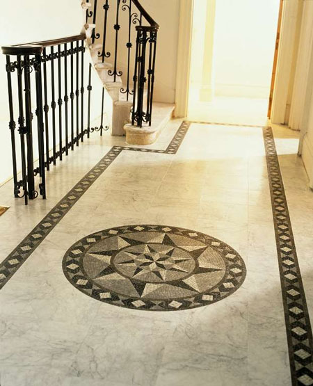 Foyers amp Entry Flooring Idea Medici Mosaic Motif By