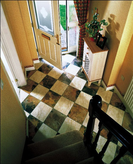 Foyers entry flooring idea great ideas for small for Foyer flooring ideas