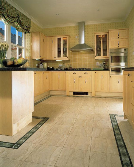 Kitchens flooring idea sd14 sedimentary sandstone light for Vinyl floor ideas for kitchen