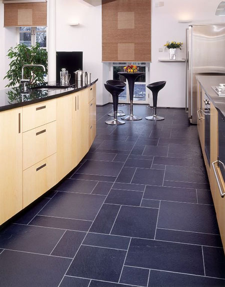 Kitchens flooring idea ea29 european slate with mp38 for Vinyl floor ideas for kitchen