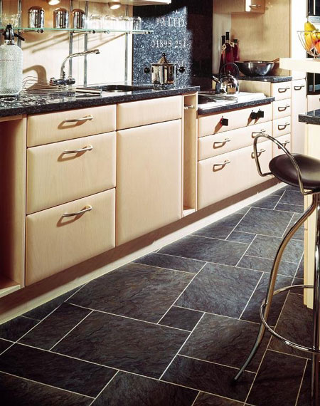 kitchens flooring idea : sn36 norwegian slate silver, two thirds