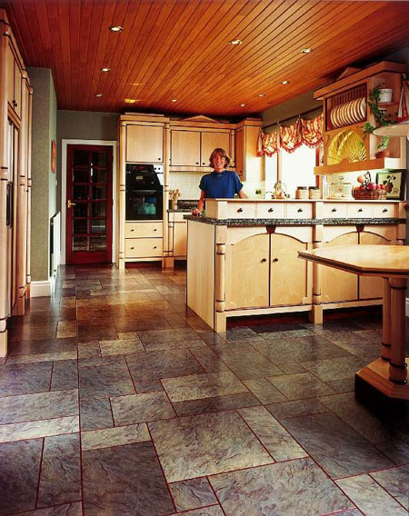 Affordable Kitchens Flooring Idea Sn Norwegian Slate Silver And Mp With Kitchen Flooring Ideas