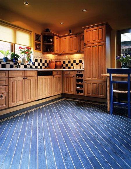 Kitchens Flooring Idea WZ98 Metallic Wood Blue And W592E