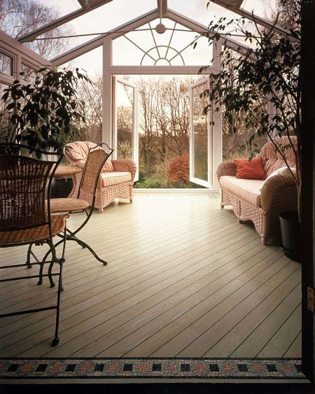Sunrooms room ideas photos articles remodeling and for Sunroom tile floor ideas