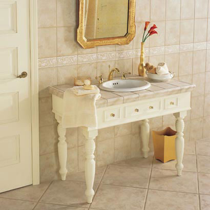 Bathrooms flooring idea gold rush by daltile tile for Daltile bathroom ideas