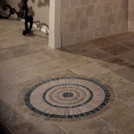 Foyers Entry Flooring Idea Medallions By Daltile Tile
