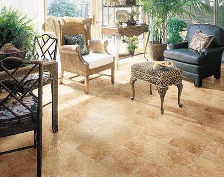 Sunrooms flooring idea del rio by domco vinyl flooring for Sunroom flooring ideas