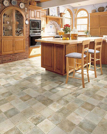 Kitchens flooring idea versatile by domco vinyl flooring for Kitchen flooring ideas vinyl