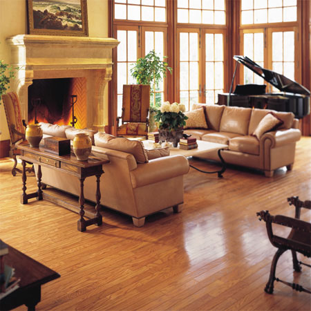 Living rooms flooring idea pulaski plank light oak by Carpet or wooden floor in living room