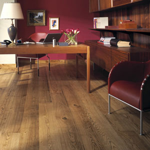 Home office study flooring idea oak canterbury by for Floor decoration ideas office