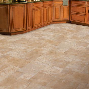 Kitchens flooring idea benchmark fiore by mannington for Vinyl floor ideas for kitchen