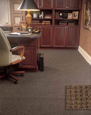 Home office study flooring idea verve by masland carpet for Flooring ideas for home office