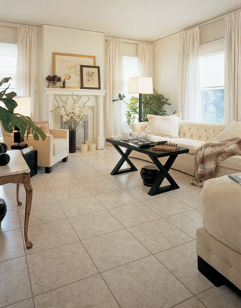 Living Rooms Flooring Ideas and Choices flooring idea  TUMBLED MARBLE by Nafco Vinyl