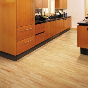 Kitchens Flooring Idea : Esteem 3 Strip   Natural Maple By Shaw Hardwoods  Flooring