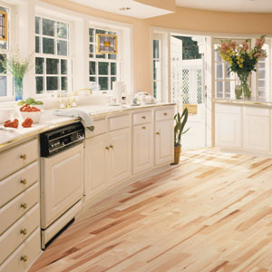 simple kitchens flooring idea esteem strip country maple by shaw hardwoods flooring with hardwood in kitchen - Ideas For Kitchen Floors