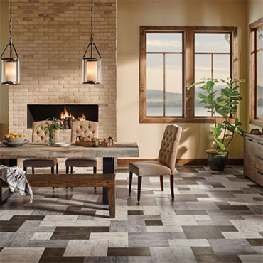 Grain Directions Engineered Tile - Antiqued Ivory