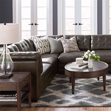 Bassett Leather Sectionals